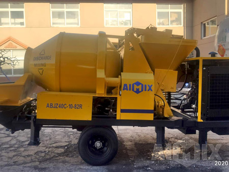 Aimix ABJZ40C Concrete Mixer Pump Was Finished Manufacturing