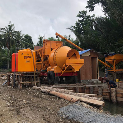 Aimix AJY 35 Mobile Concrete Plant Finished Installation In Indonesia