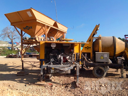 ABJZ40C Concrete Mixer Pump Is Running Well In Indonesia