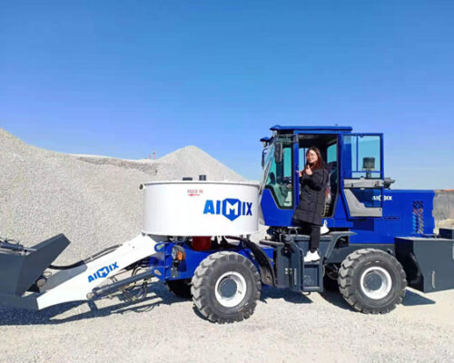 Aimix Self Loading Concrete Pan Mixer Was Worked In Mozambique