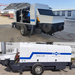 Aimix Diesel Concrete Trailer Pumps Were Delivered To Russia